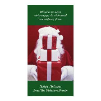 Tarjeta de Navidad de Papá Noel Tarjeta Personal