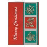 tarjeta de Navidad de plata de los ekos