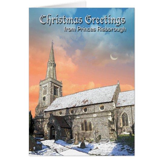 Tarjeta de Navidad de príncipes Risborough