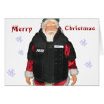 Tarjeta de Navidad de Santa de la policía