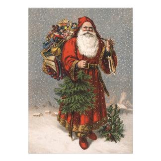 Tarjeta de Navidad de Santa del alemán Comunicados Personales