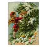 Tarjeta de Navidad de Santa del vintage