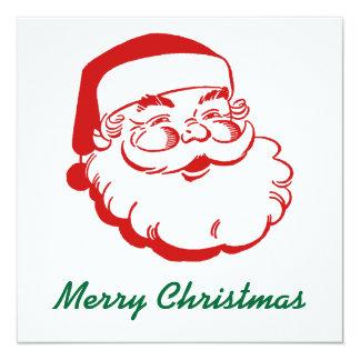 Tarjeta de Navidad de Santa Invitación 13,3 Cm X 13,3cm