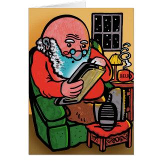 Tarjeta de Navidad de Santa Ipad