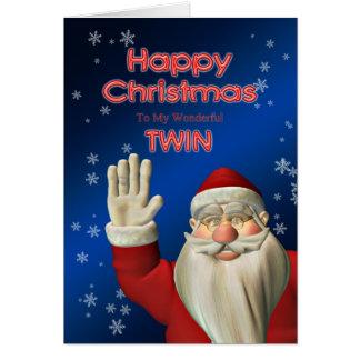 Tarjeta de Navidad de Santa que agita para su geme