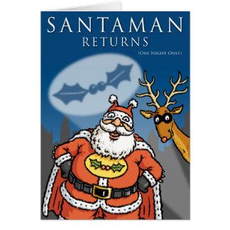 Tarjeta de Navidad de Santaman
