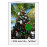 Tarjeta de Navidad de Sarasota, la Florida