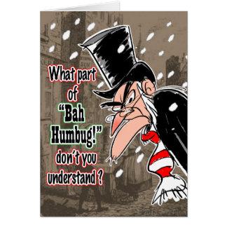 Tarjeta de Navidad de Scrooge