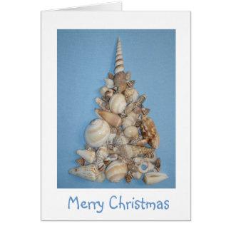 Tarjeta de Navidad de Shell del mar