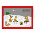 Tarjeta de Navidad de Smores del reno
