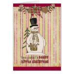 Tarjeta de Navidad de Sr. Snowman's