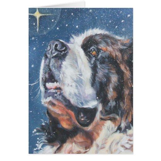 Tarjeta de Navidad de St Bernard