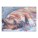 Tarjeta de Navidad de Staffordshire Terrier americ