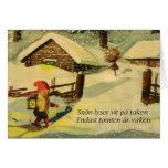 Tarjeta de Navidad de Tomten con el poema de Victo