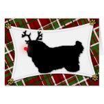 Tarjeta de Navidad de Tulear Reindeer del algodón
