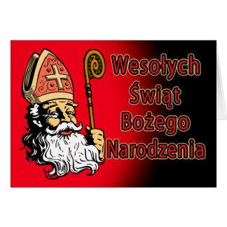 Tarjeta de Navidad de Wesolych Swiat Bozego Narodz