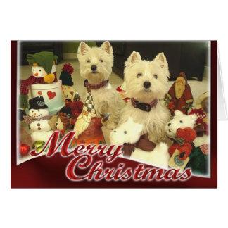 Tarjeta de Navidad de Westie Toyland