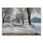 Tarjeta de Navidad de Winona: Sugarloaf con Frost
