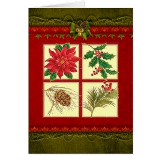 Tarjeta de Navidad decorativa