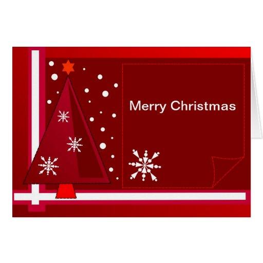 Tarjeta de Navidad decorativa con el texto