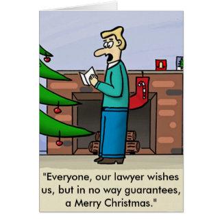 Tarjeta de Navidad del abogado