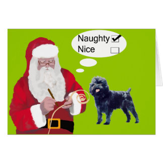 Tarjeta de Navidad del Affenpinscher
