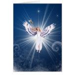 Tarjeta de Navidad del ángel de Gloria