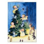 tarjeta de Navidad del ángel del ejemplo