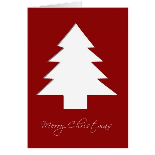 Tarjeta de Navidad del árbol