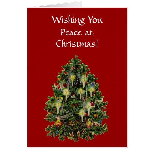 Tarjeta de Navidad del árbol del Victorian