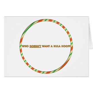 Tarjeta de Navidad del aro de Hula