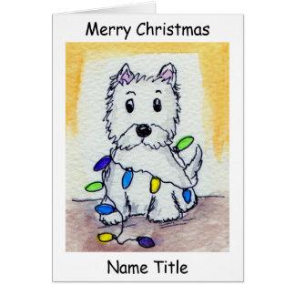 Tarjeta de Navidad del arte de las luces de navida