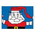 Tarjeta de Navidad del arte de Santa