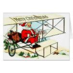 Tarjeta de Navidad del avión del BI del vuelo de S