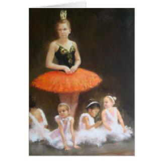 Tarjeta de Navidad del ballet