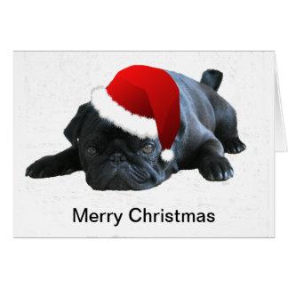 Tarjeta de Navidad del barro amasado