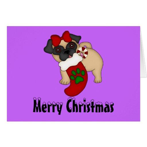 Tarjeta de Navidad del barro amasado #4
