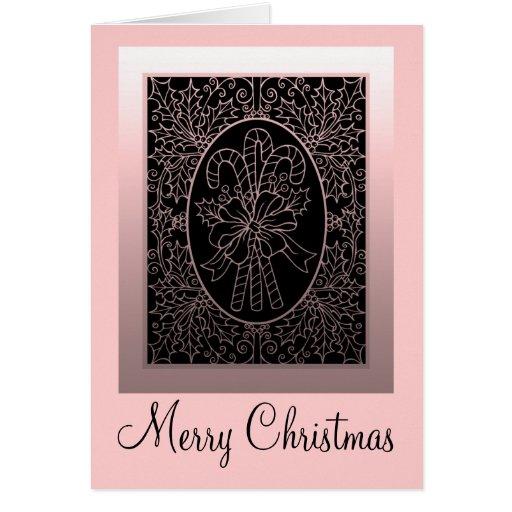 Tarjeta de Navidad del bastón de caramelo