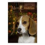Tarjeta de Navidad del beagle