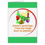 Tarjeta de Navidad del bingo