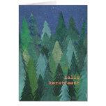 Tarjeta de Navidad del bosque Nevado: Flamenco