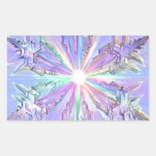Tarjeta de Navidad del brillo de la estrella del Rectangular Altavoces