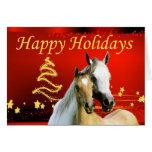 Tarjeta de Navidad del caballo