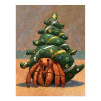 Tarjeta de Navidad del cangrejo de ermitaño Tarjeta Postal