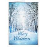 Tarjeta de Navidad del carril Nevado