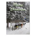 Tarjeta de Navidad del cartero
