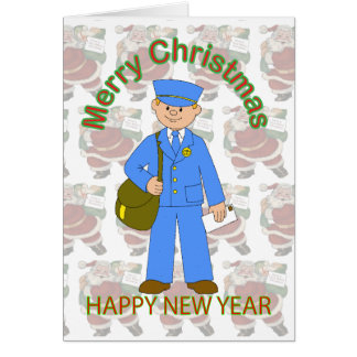 Tarjeta de Navidad del cartero del juguete