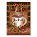 Tarjeta de Navidad del chocolate caliente Belces y