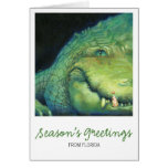 Tarjeta de Navidad del cocodrilo