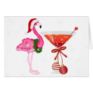 Tarjeta de Navidad del cóctel del flamenco - SRF